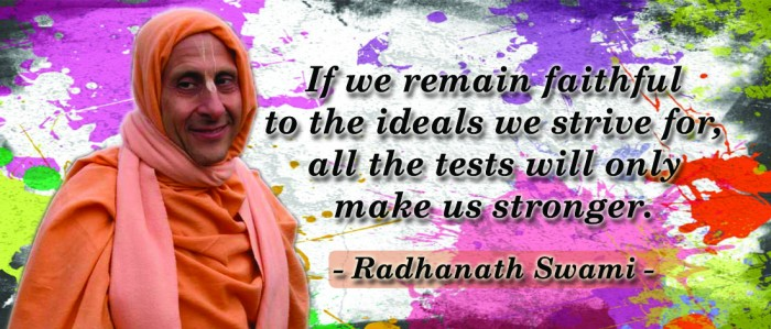Radhanath Swami on Faithful to the Ideals