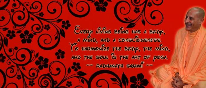 Radhanath Swami on Art of yoga