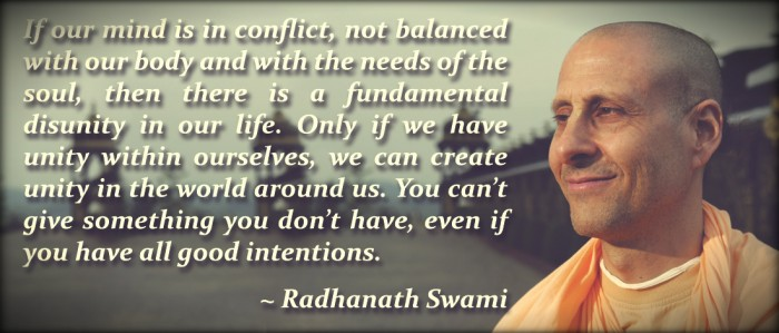 Radhanath Swami On Unity
