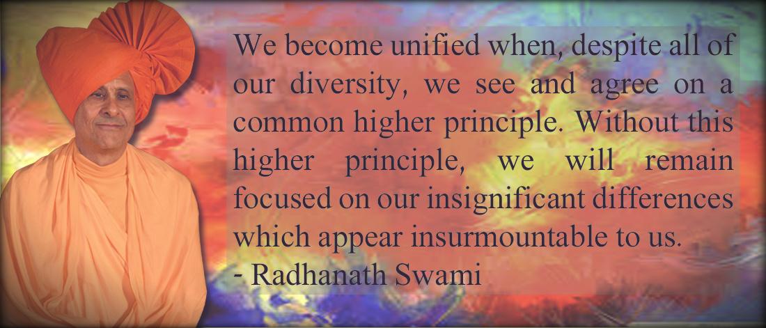 Radhanath Swami on higher principle