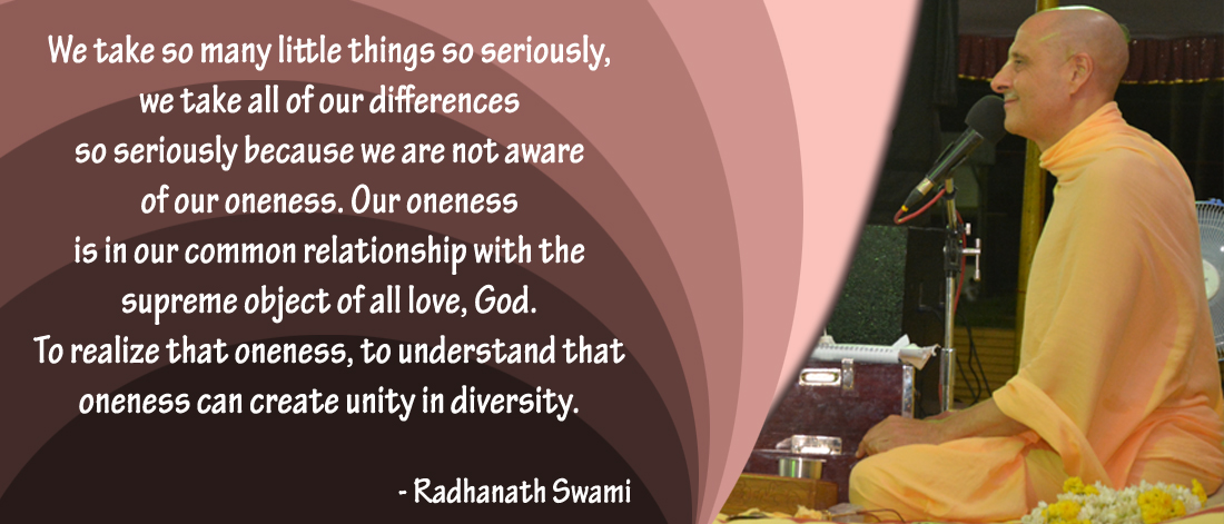 Radhanath Swami on our oneness