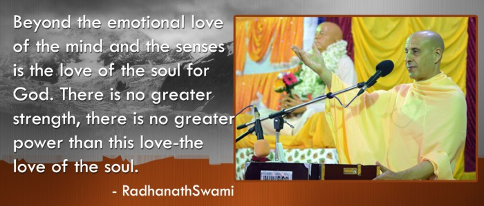 Radhanath Swami on the love of the soul