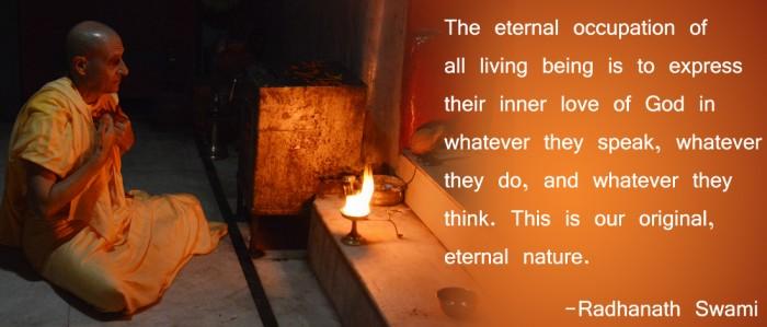 Radhanath Swami on eternal nature.