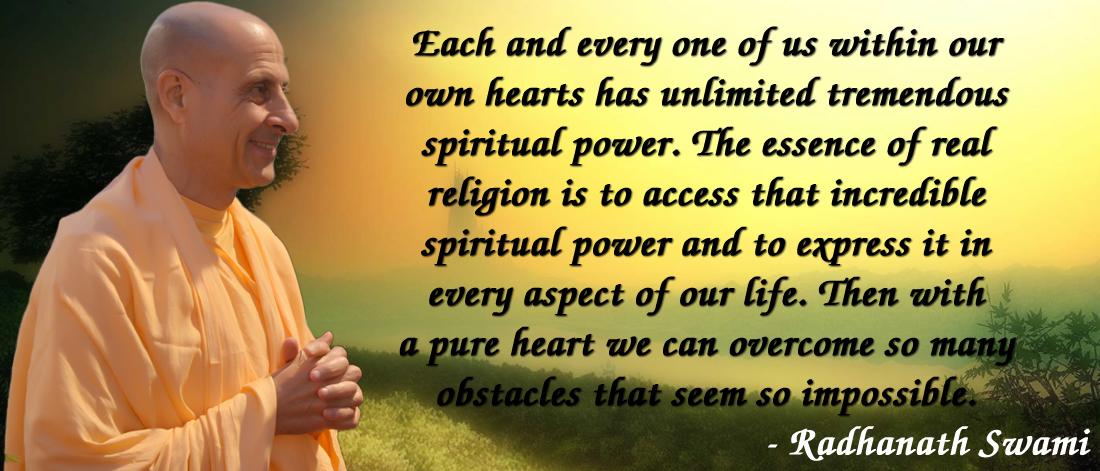 Radhanath Swami on spiritual power