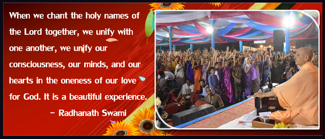 Radhanath Swami on Chanting the holy names together