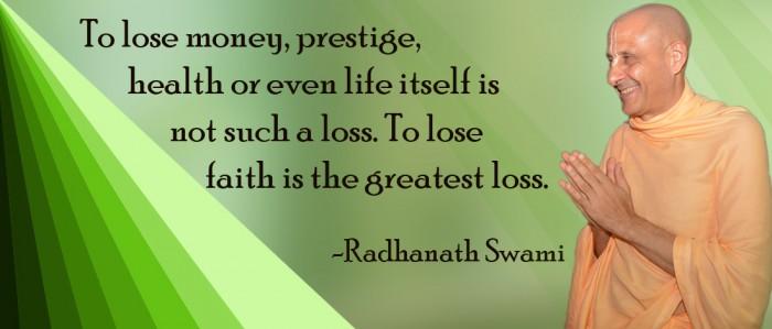 Radhanath Swami on Faith