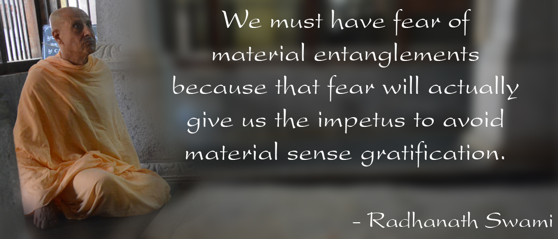 Radhanath Swami on Material attachments