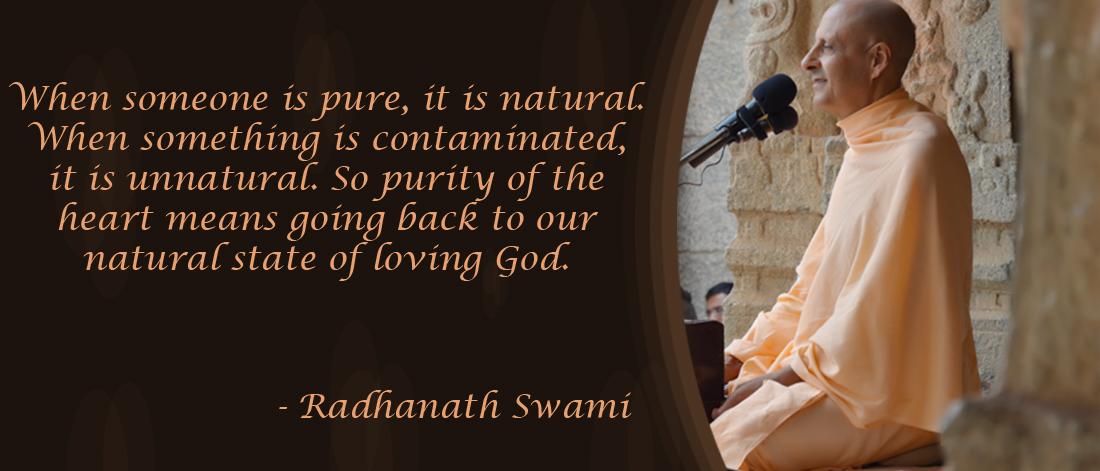 Radhanath Swami on Purity