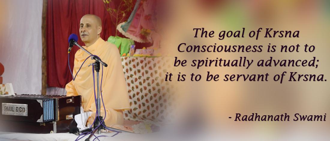 Radhanath Swami on Spiritual advancement