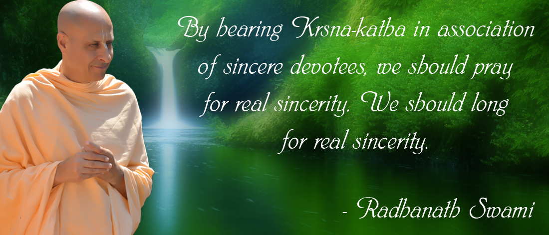 Radhanath Swami on Sincerity