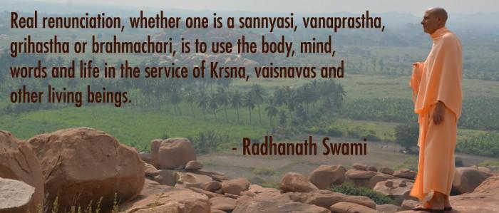 Radhanath Swami on Renunciation