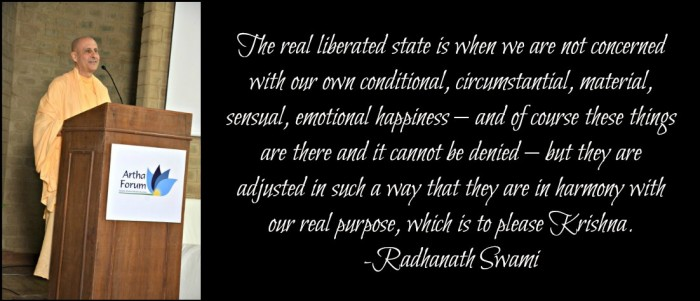 Radhanath Swami on liberation