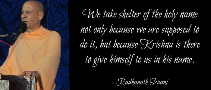 Radhanath Swami on the shelter of the holy name