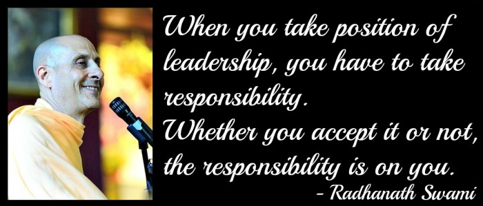 Radhanath Swami on leadership