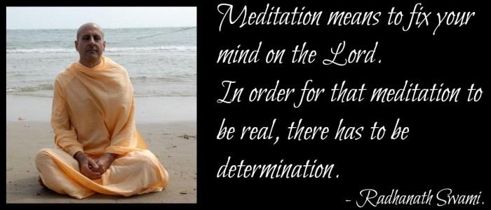 Radhanath Swami on Meditation