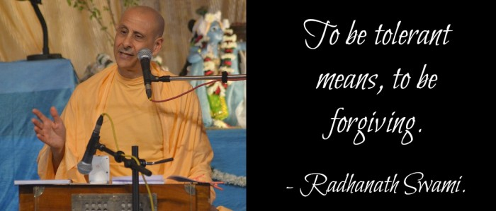 Radhanath Swami on Tolerance
