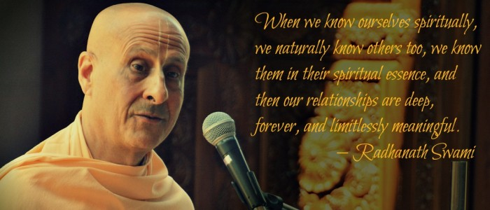 Radhanath swami on knowing ourselves spiritually