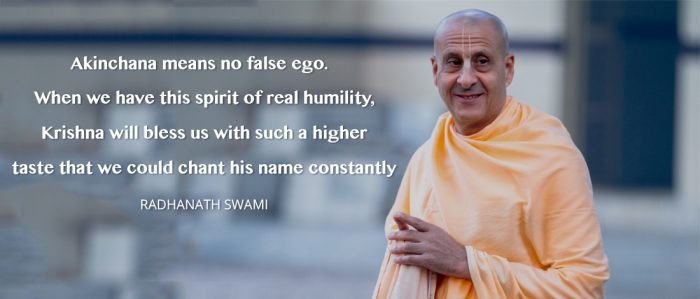 Radhanath swami on spirit of real humility