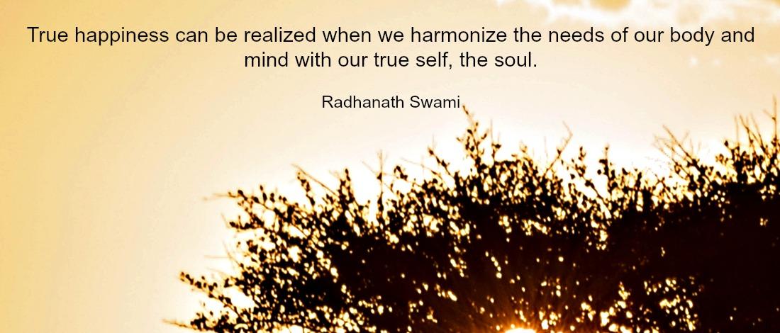 Radhanath Swami on true happiness