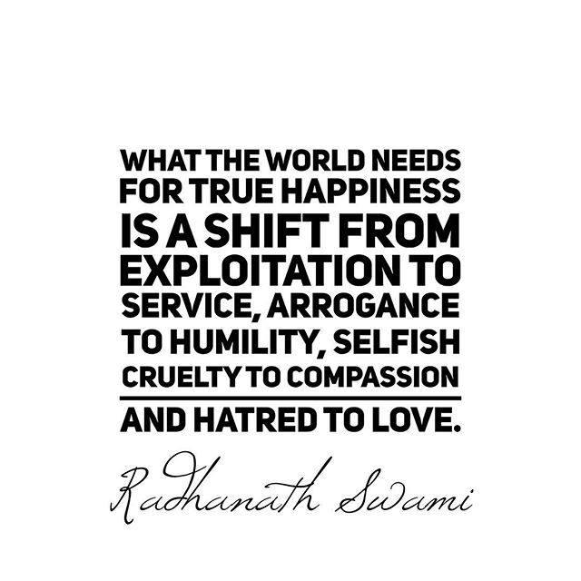 True Happiness Radhanath Swami Quotes
